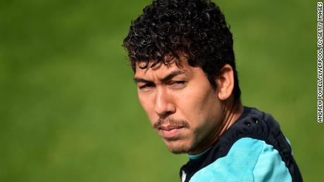 Roberto Firmino's curls rival that of teammate Mo Salah.