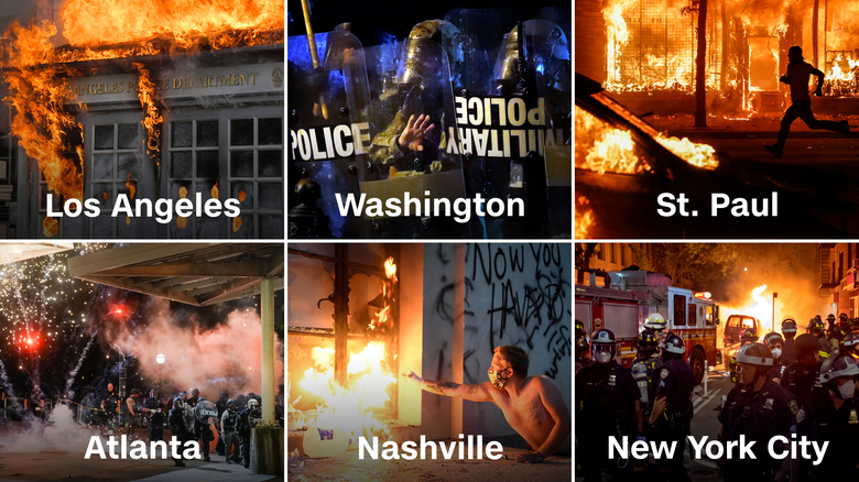As America burns, riots play into Trump's hands (opinion) - CNN