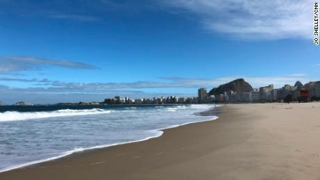 World-famous beach emptied by coronavirus