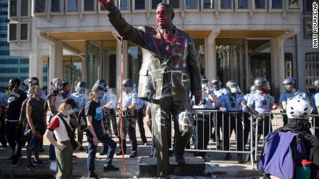 These controversial statues were removed following protests over the death of George Floyd
