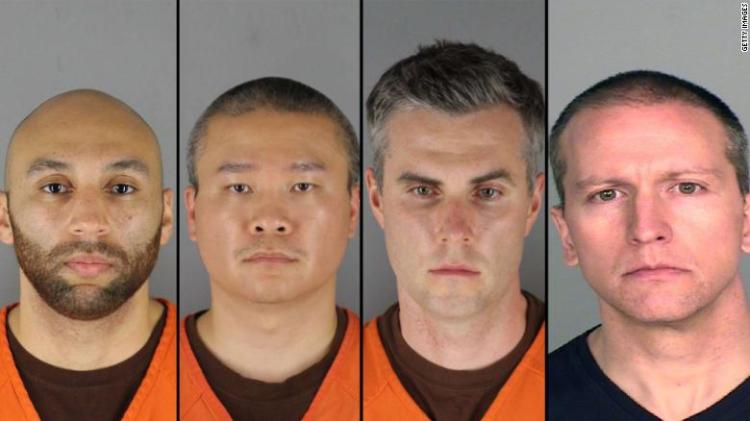 All four ex-officers charged in Floyd's death amid protests