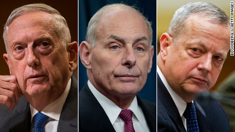 The prominent former military leaders who have criticized Trump's actions over protests