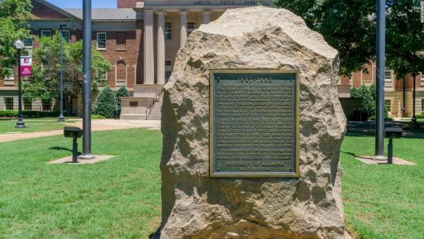 Confederate war memorial on the campus of University of Alabama.