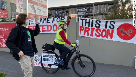 Protesters staged weekly protests that escalated into an occupation when security guards tried to remove a detainee.