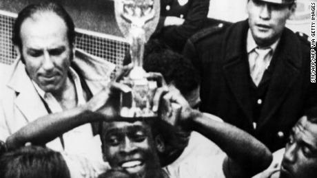 Pele scored two goals and assisted another in the final against Italy.