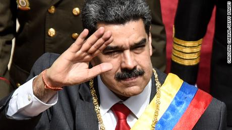 Venezuelan President Nicolas Maduro arrives to his annual address to the nation at the National Constituent Assembly on January 14.