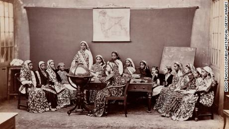 School for Parsi girls in about 1870.
