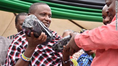 Saniniu Laizer who sold Tanzania's biggest gemstone.