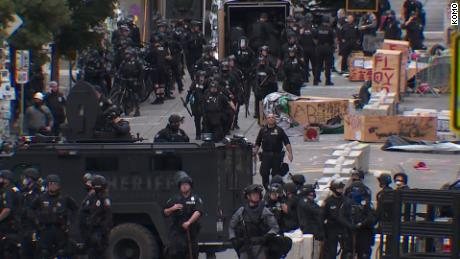 Seattle Police disperse protesters from occupied CHOP area after emergency order