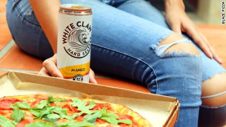 White Claw teamed up with Blaze Pizza for a mango crust.