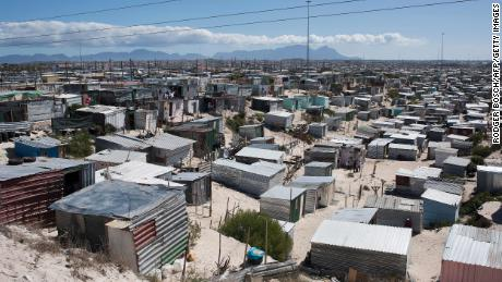 The commune of Khayelitsha, seen here in March, is a high-density area that is closely watched in the battle against Covid-19.