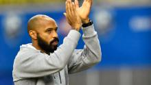 Montreal Impact head coach, Thierry Henry, celebrates a victory against New England Revolution on February 29, 2020.