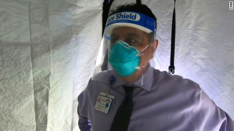 Adolphe Edward, CEO of El Centro Regional Medical Center, saw medical tents deployed in Iraq and now at home.
