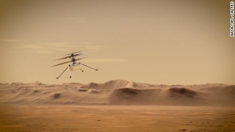 Ingenuity's first flight will only last about 30 seconds.