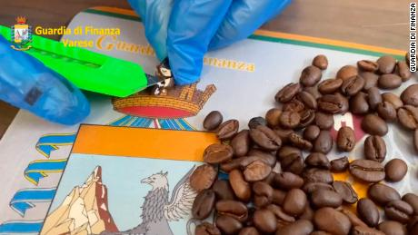 Police in Italy find shipment of coffee beans stuffed with cocaine