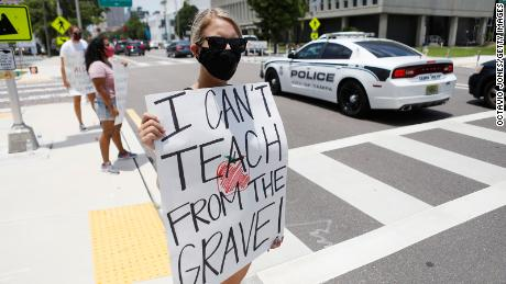 Florida educators file lawsuit after state forces schools to reopen this fall