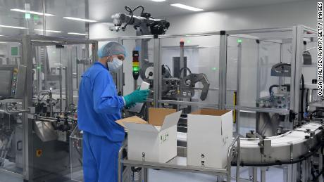 An employee of the Russian biotech company BIOCAD, which is developing its own coronavirus vaccine, and doing another work in collaboration with the country's virus research center.