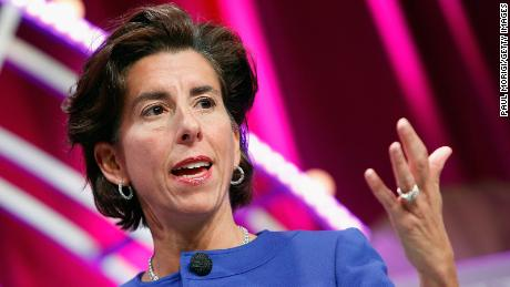 Then-Rhode Island Gov. Gina Raimondo speaks onstage during Fortune's Most Powerful Women Summit - Day 2 at the Mandarin Oriental Hotel in Washington, DC in October 2015.
