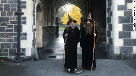 The Wizard and his apprentice, Ari Freeman, in Christchurch on June 2, 2020.