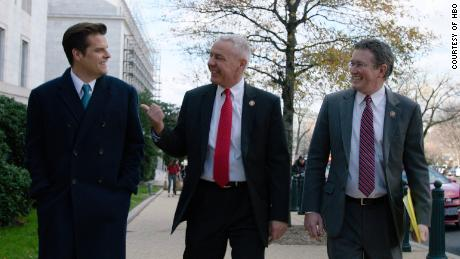 "The ""Swamp"" follows the political journey of (from left) Republican Congressmen Matt Gaetz (R-Fla.),  Ken Buck (R-Colo.) and Thomas Massie (R-Ky.) over the course of a year."