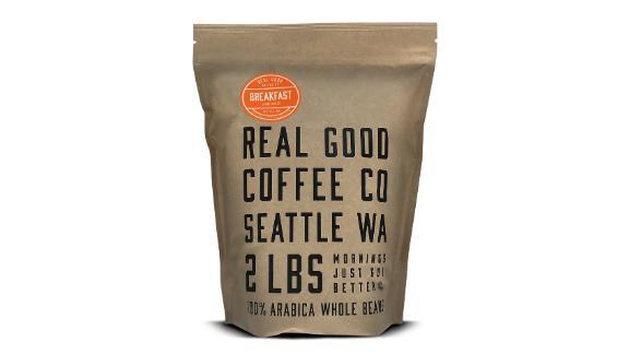 Real Good Coffee Co Whole Bean Coffee Breakfast Blend Light Roast