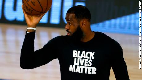 LeBron James laughs off Trump's criticism of NBA players taking a knee