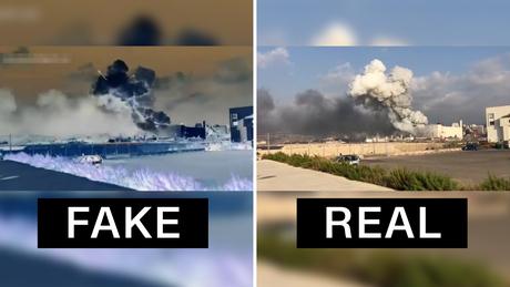 วิดีโอแพทย์กำลังแกล้งทำเป็นสาเหตุของการระเบิดของเบรุต