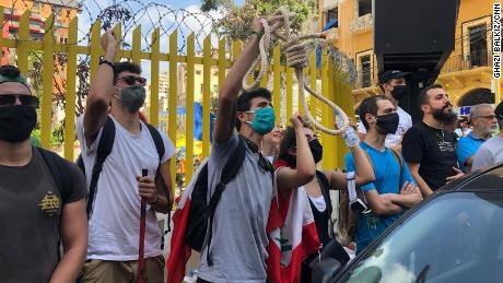 Grief and despair gave way for thousands of people to become angry, as they protested against the country's ruling leaders on the streets of Beirut.
