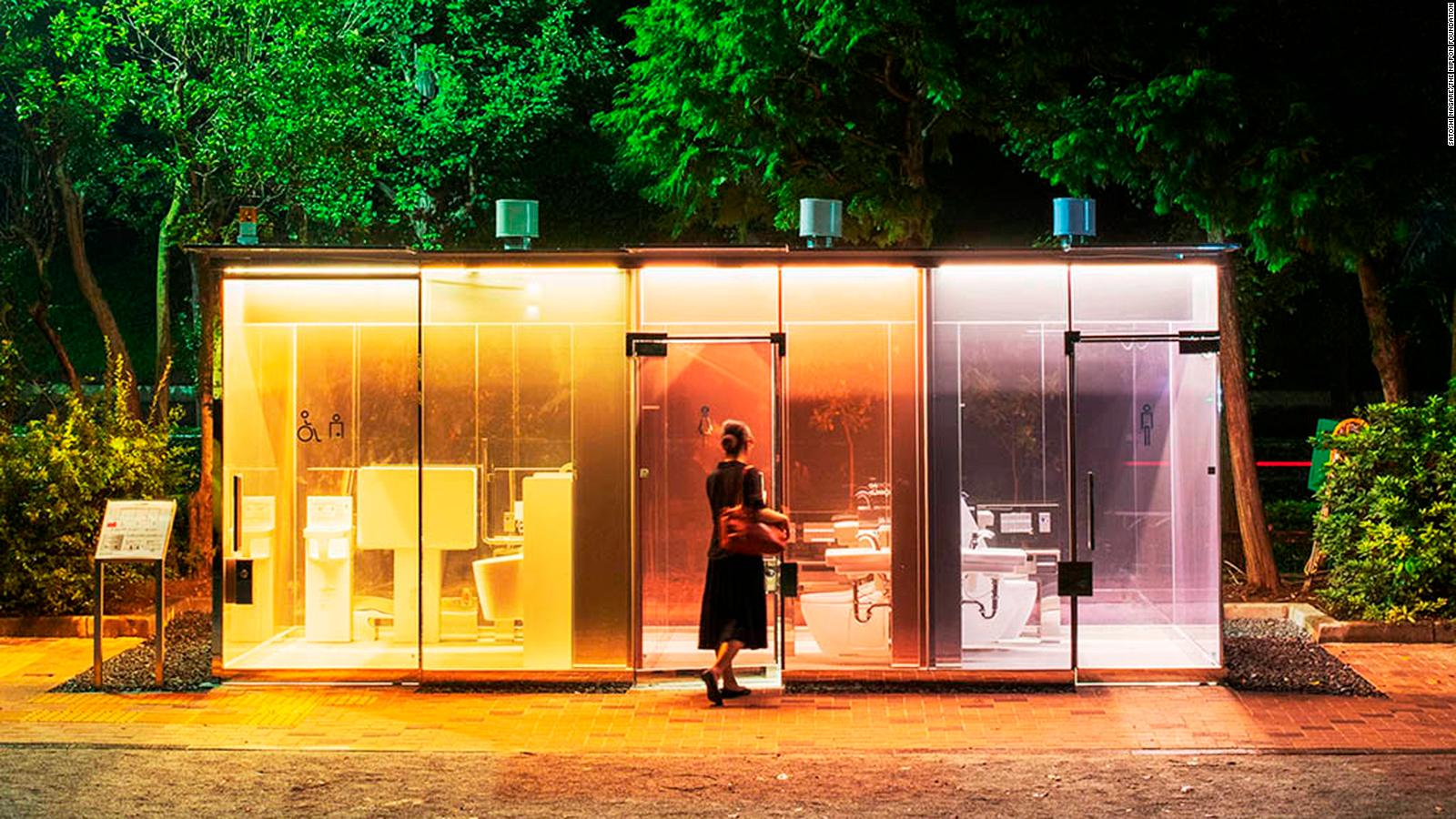 Tokyo S Latest Attraction Transparent Public Toilets Cnn Travel