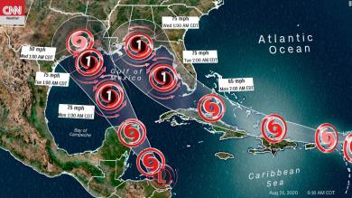 Gulf Coast on alert as two tropical systems could threaten at the same time