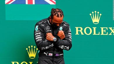 Lewis Hamilton pays tribute to Chadwick Boseman after Belgian GP victory