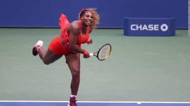 Serena sets new US Open record as sister Venus bows out