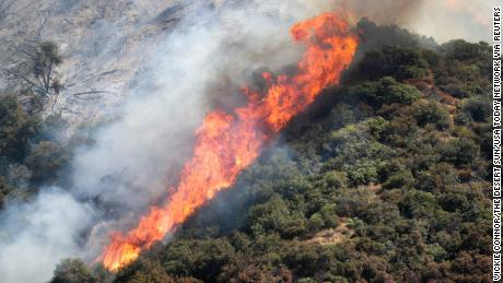 A pyrotechnic device at a gender reveal party sparked one of the California wildfires, burning over 8,600 acres