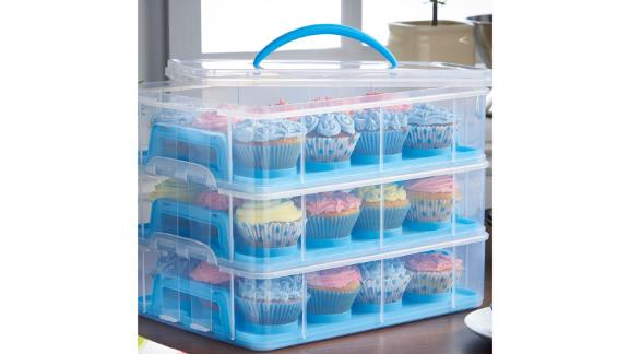 Vonchef 3-Tier Cupcake Holder and Carrier Container