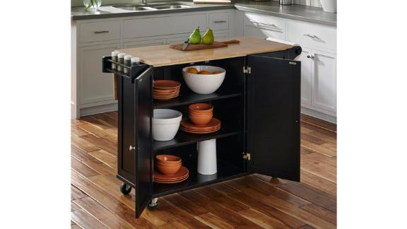 Andover Mills Kuhnhenn Kitchen Cart With Wood Top