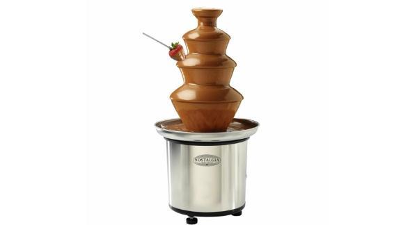 Nostalgia 4-Tier Stainless Steel Chocolate Fondue Fountain