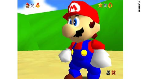 """""""Super Mario 64"""" was the first 3D Mario game."""