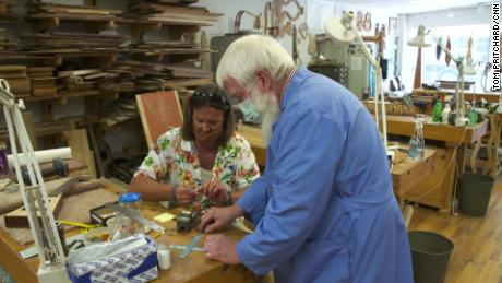 """Students make instruments in a """"Culture of Recovery"""" program run by the nonprofit Appalachian Artisan Center in HIndman, Kentucky."""