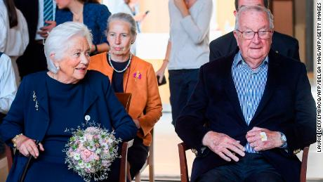 Albert, pictured on July 9, 2020 with his wife, Queen Paola of Belgium
