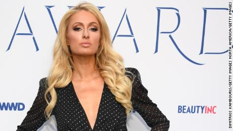 Paris Hilton attends the 2019 WWD Beauty Inc Awards at the Rainbow Room in New York City, December 11, 2019.