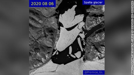 A chunk of ice twice the size of Manhattan has broken off Greenland in the last two years