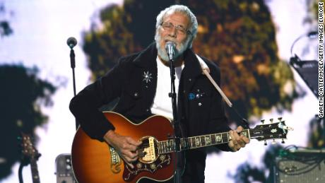 """Yusuf Islam (formerly Cat Stevens) performed onstage during the """"Music for the Marsden"""" benefit concert at The O2 arena on March 3 in London."""