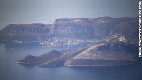 Kastellorizo is seen from the Antalya province of Turkey.