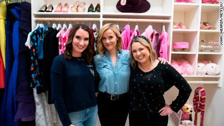 """(From left) Clea Shearer, Reese Witherspoon and Joanna Teplin in an episode of """"Get Organized with The Home Edit"""" on Netflix."""