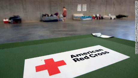 Shelters have been opened to house evacuees.