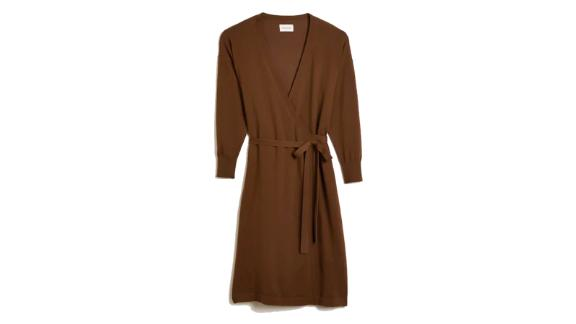 Wrap Dress in Deep Wine