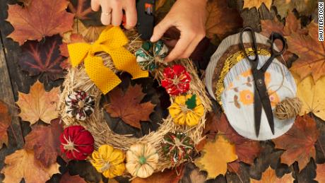 Turn nature into fall-themed art.