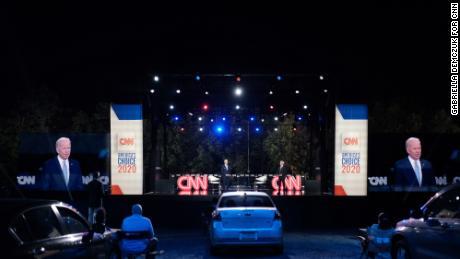 Joe Biden speaks at the CNN Presidential Town Hall in Scranton, Pennsylvania.