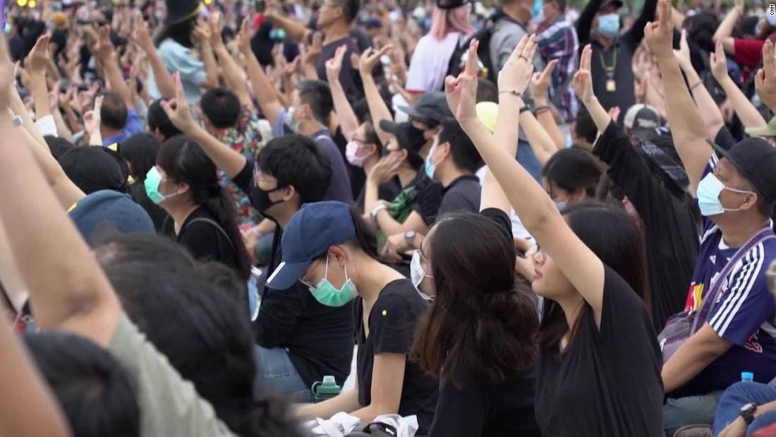Photo of Protesters in Thailand using 'Hunger Game' sign to demand reform – CNN Video