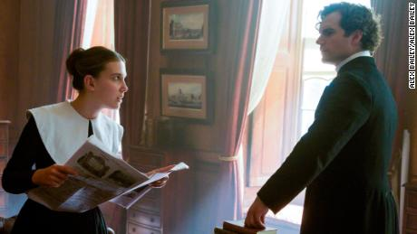 Millie Bobby Brown and Henry Cavill in 'Enola Holmes.'